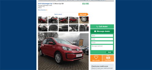 Fire Shot Capture 047 - 2019 Volkswagen Up 1.0 Move Up 5Dr Cars For Sale - Honest John _ - Www .honestjohn .co .uk