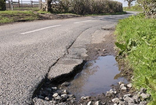 Pothole Rural Road
