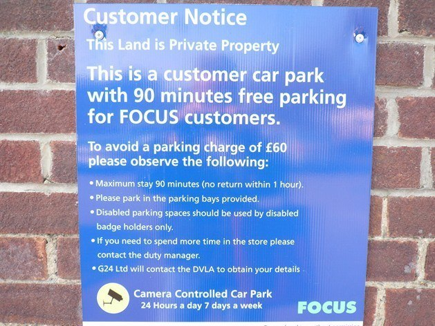 Parking Control Sign Focus 700