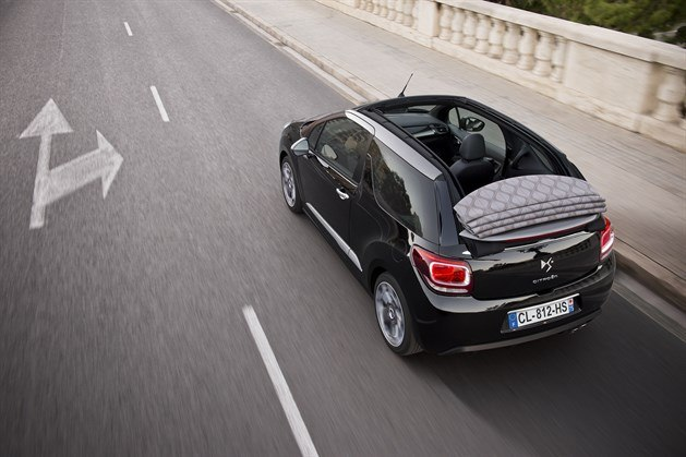 Citroen DS3 Cabriolet Roof Down (1)