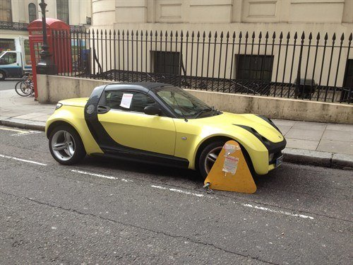 Smart Roadster Clamped