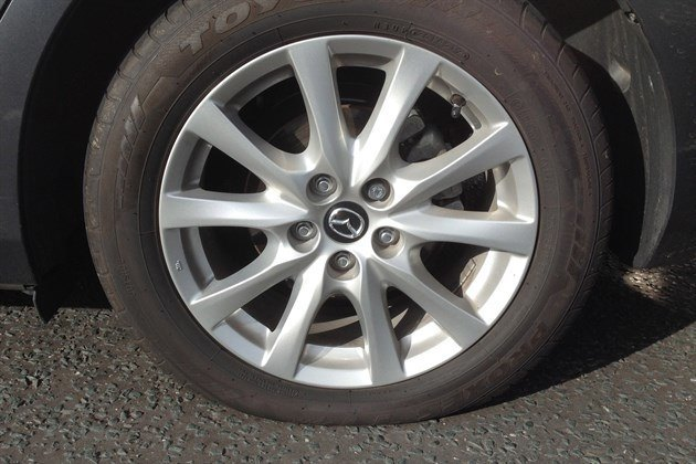 Mazda 6 Punctured Tyre