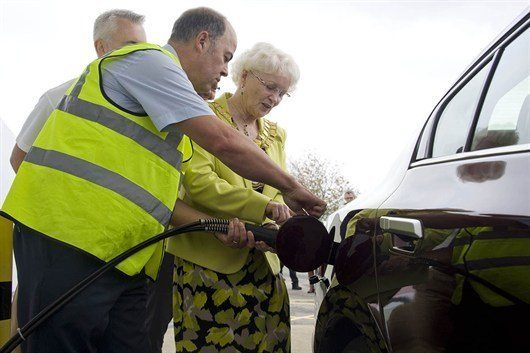 Swindon Mayor Cllr Teresa Page Refuelling