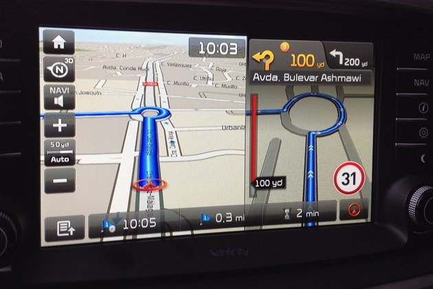 KIA Sorento 2015 KX3 Satnav Screen Turn
