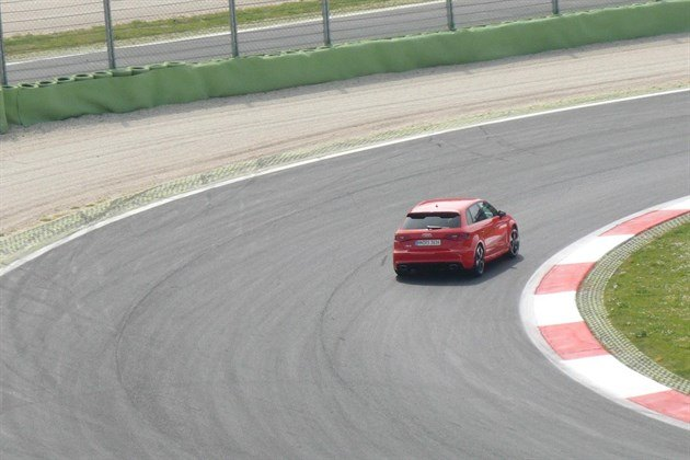 Audi RS3 Red On Track