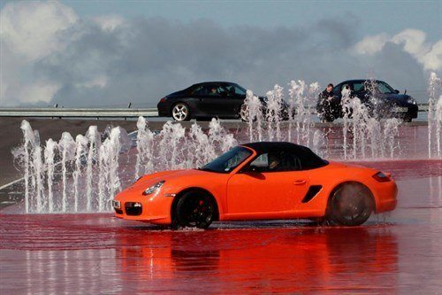 Porsche Boxster Red Ice Hill