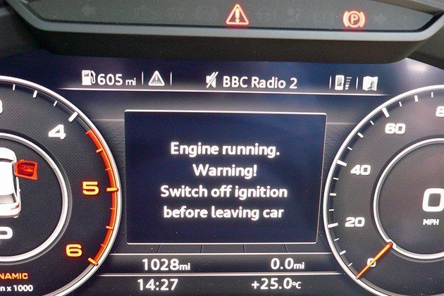 Engine Running . Warning ! Switch Off Ignition