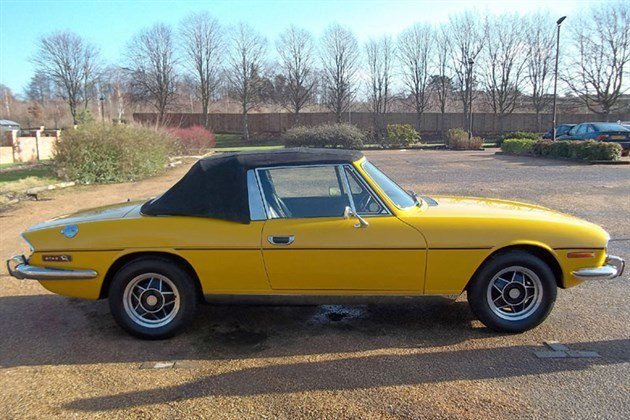Triumph Stag Side Yellow