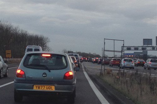 Traffic Jam M18 To M1 Sliproad 2 11 2014