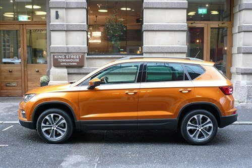 SEAT Ateca Orange Side Street