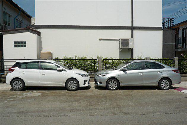 Toyota Yaris Facing Toyota Vios